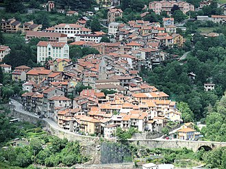 Alpes-Maritimes - Saint-Martin-Vésubie, a small town in the Alps and tourist destination
