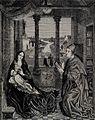 Saint Luke. Wood engraving after J. van Eyck. Wellcome V0032569.jpg