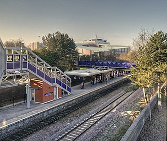 Salford Crescent railway station - Salford Crescent railway station in 2014