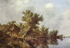 River Landscape with Ferry - Image: Salomon van Ruisdael 002