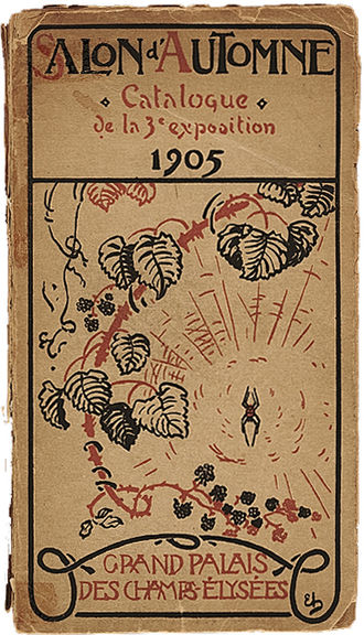 Salon d'Automne - Salon d'Automne, 1905, catalogue cover. Fauvism was launched at this exhibition