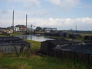 Settlement in Arkhangelsk Oblast, Russia