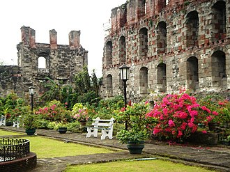 Tourism in Metro Manila - San Agustin Church's botanic garden in Intramuros