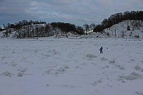 Sand Dunes, Lake Michigan, winter.JPG