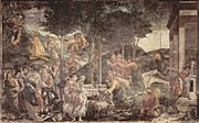 Scenes from the Life of Moses by Sandro Botticelli.