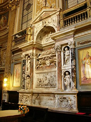 Pope Adrian VI - The funeral monument for Adrian VI in Santa Maria dell'Anima in Rome