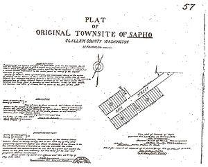 Sappho, Washington - Sapho Homestead Document 1895
