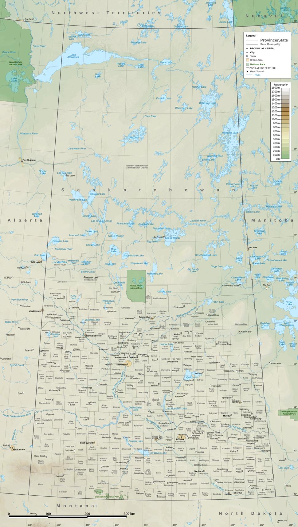 Saskatchewan Topographic