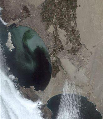 Chimbote - Satellite image of Chimbote