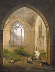 Scene in a Ruined Chapel