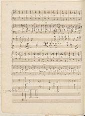 Eine Seite aus Schumanns Skizzenbuch V mit Generalbass-Studien (Quelle: Wikimedia)