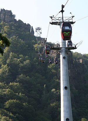 Hexentanzplatz (Harz) - The gondola lift to the Hexentanzplatz