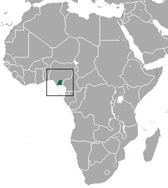 Sclater's guenon - Image: Sclater's Guenon area