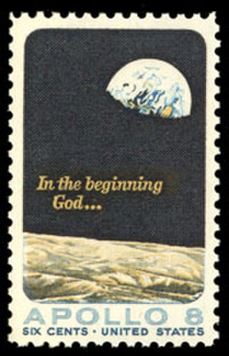 Earthrise - Image: Scott 1371, Apollo 8