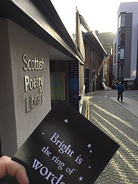 Scottish Poetry Library external with postcard.jpg