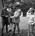 Scouting, uniform, boy, genre painting, maidenhair, jamboree Fortepan 55762.jpg