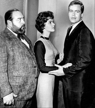 Sebastian Cabot (actor) - Cabot, Carolyn Craig, and Doug McClure in Checkmate (1962)