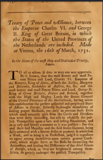 Treaty of Vienna (1731) early Modern Anglo-Austrian pact
