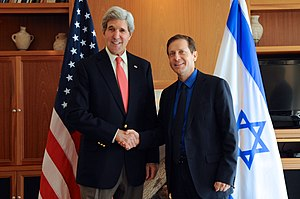 Isaac Herzog - Herzog in a meeting with Secretary of State John Kerry, January 2014