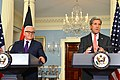 Secretary Kerry and German Foreign Minister Steinmeier Address Reporters in Washington (25384319556).jpg