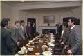 Senior Staff lunchion with Gerald Rafshoon, Zbigniew Brzezinski, Stuart Eizenstat, Bob Lipshutz, Tim Kraft... - NARA - 183258.tif