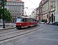 Senovážné náměstí, z Bolzanovy, tramvaj X-A.jpg