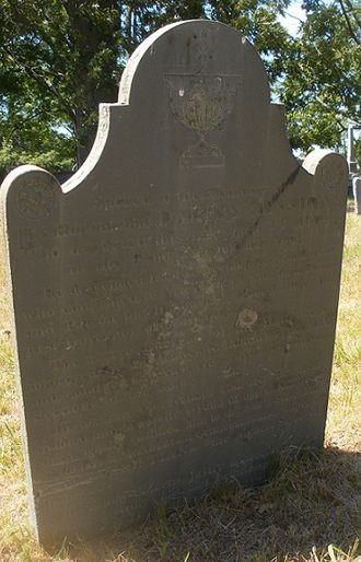 Darius Sessions - Sessions' grave marker, North Burial Ground, Providence