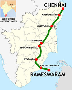 Sethu Express (MS-RMM) Route map.jpg