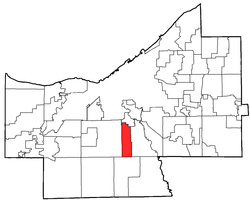 Location of Seven Hills in Cuyahoga County