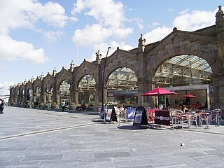 Sheffield station Combined railway station and tram stop in Sheffield, England