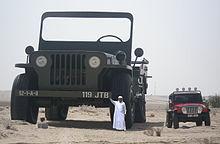 Sheikh Hamad bin Hamdan Al Nahyan with largest model Willys jeep 2009