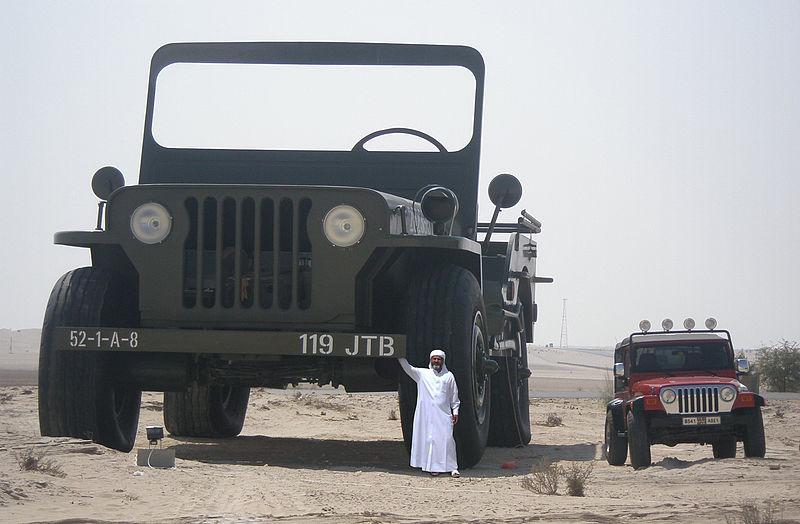 File:Sheikh Hamad bin Hamdan Al Nahyan with largest model Willys jeep 2009.jpg