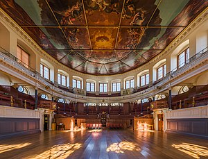 Oxford Bach Choir - Interior view of the Sheldonian Theatre of Oxford University, where the Oxford Back Choir rehearses and holds concerts.