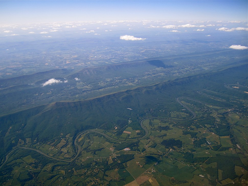 Shenandoah River, aerial