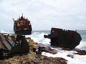 Klein Curaçao - Image: Shipwreck klein curacao