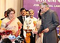 Shivraj Patil lighting the lamp to inaugurate the Joint Official Language Conference for Northern Regions, at Chandigarh. The Secretary, Official Language, Ministry of Home Affairs, Ms. Nita Chowdhury is also seen.jpg