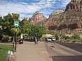 Shuttle bus stop at Zion Canyon National Park.jpg