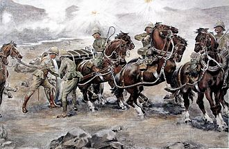 "Battle of Colenso - ""Saving the guns at Colenso"" Sidney Paget"