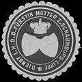 Siegelmarke Dienst I.H. der Fürstin Mutter zu Schaumburg-Lippe W0350347.jpg