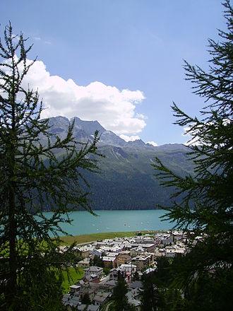 Silvaplana - Silvaplana and Lake Silvaplana