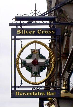 Silver Cross Tavern - The Tavern's sign