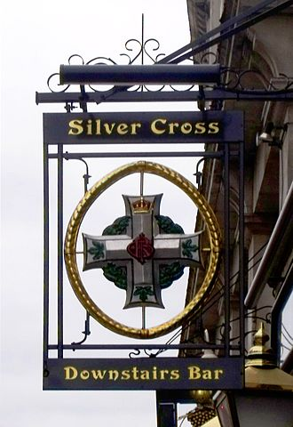 Silver Cross Tavern - The Tavern's sign