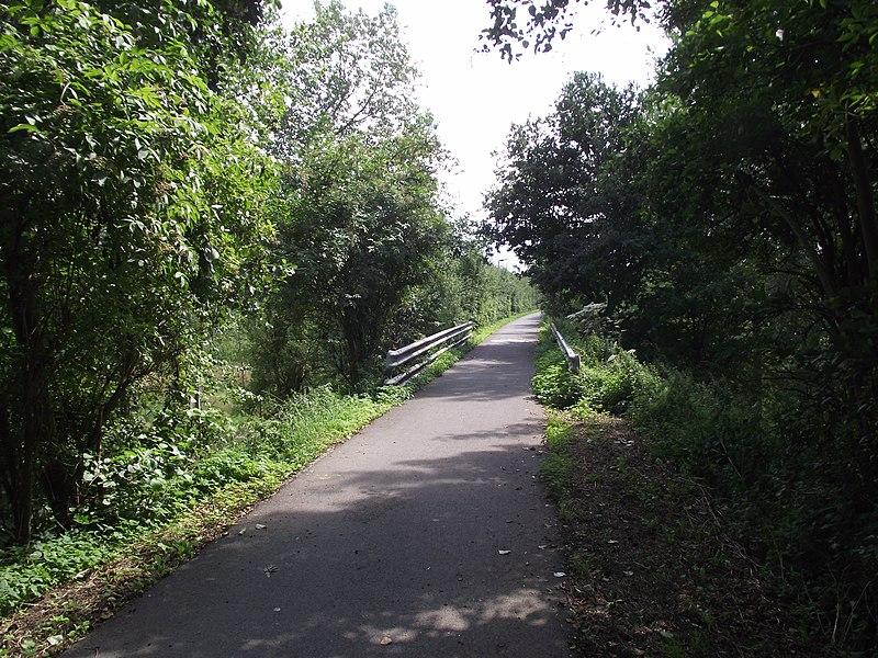 De oude buurtspoorwegroute tussen Geraardsbergen en Gent