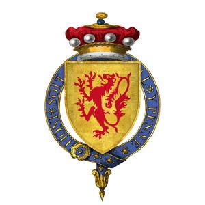 Edward Charleton, 5th Baron Cherleton - Coat of arms of Sir Edward Cherleton, 5th Baron Cherleton, KG: Or, a lion rampant gules