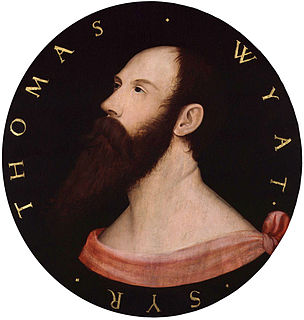 Thomas Wyatt (poet) English poet and diplomat (1503-1542)