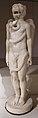 Siria, sculture del mitreo di sidon, 389 dc, krono mitriaco con testa leonina e spire del tempo (serpente).JPG