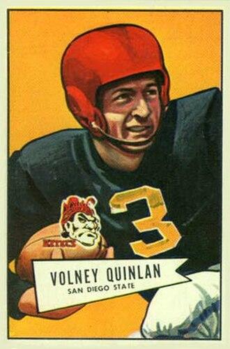 Skeet Quinlan - Quinlan on a 1952 Bowman football card