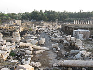 749 Galilee earthquake - Scythopolis (Beit She'an) was one of the cities destroyed in the earthquake of 749