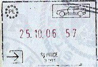 Słubice - Image: Slubice passport stamp