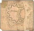 Smålenenes amt nr 38- Copie af den 6. May 1743 allernaadigste approberede Carte No. 1 hvorefter uden omkring dend gamle Fridrichstads Fæstning, 1743.jpg